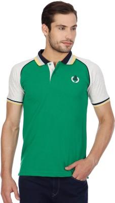 Cloak & Decker Solid Men's Polo Neck Green T-Shirt