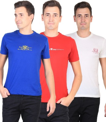 Duke Solid Men's Round Neck T-Shirt