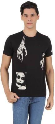 Joker Printed Men's Round Neck Black T-Shirt