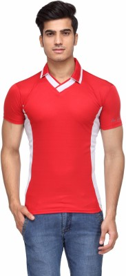 Rico Sordi Solid Men's Polo Neck Red T-Shirt