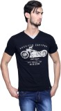 Era of Attitude Printed Men's V-neck Bla...