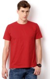 Top Notch Solid Men's Round Neck Red T-S...