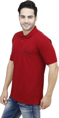 Rollinia Solid Men's Polo Maroon T-Shirt