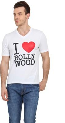 Filmwear Graphic Print Men's V-neck White T-Shirt