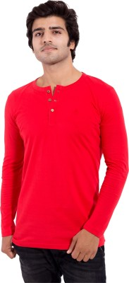 Arbor London Solid Men's Round Neck Red T-Shirt