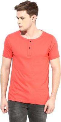 Benoit Solid Men's Henley Red T-Shirt