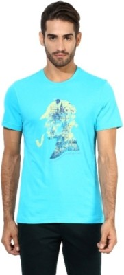 London Bridge Printed Men's Round Neck Blue T-Shirt