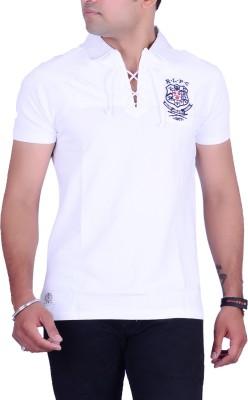 Ralph Lauren Solid Men's Polo Neck White T-Shirt
