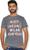 Riot Jeans Printed Men's Round Neck Grey...