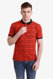 Alvin Kelly Printed Men's Polo Neck Red ...