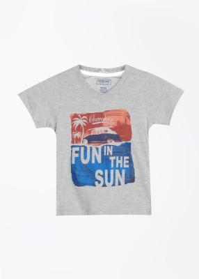 Cherokee Kids Printed Boy's V-neck T-Shirt