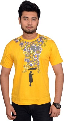 Victoria secret india Printed Boy's Round Neck Yellow T-Shirt