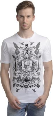 WRIG Printed Men's Round Neck White T-Shirt