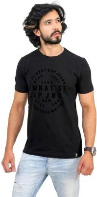 Men In Class Printed Men's Round Neck Black T-Shirt
