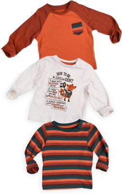 Mothercare Printed Round Neck Multicolor T-Shirt