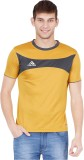 Canyons Solid Men's Round Neck Gold T-Sh...