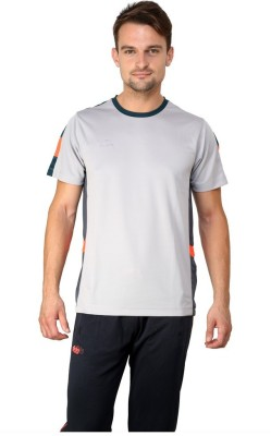 Dida Sportswear Solid Men's Round Neck Grey T-Shirt