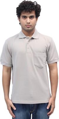 Romano Solid Men's Polo Beige T-Shirt