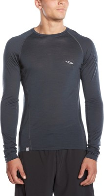 Rab Solid Men's Round Neck Grey T-Shirt