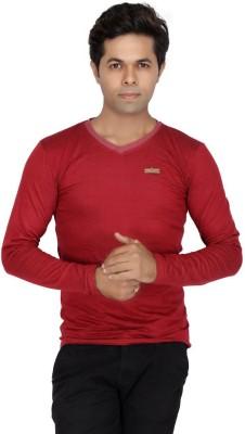 JG FORCEMAN Solid Men's Halter Neck Maroon T-Shirt