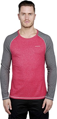 Craghoppers Solid Men's Round Neck Red T-Shirt