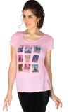La Vida Printed Women's Round Neck Pink ...