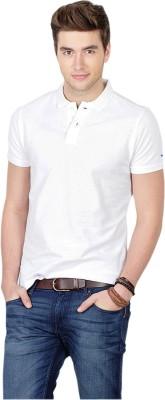 Basics Solid Men's Polo White T-Shirt