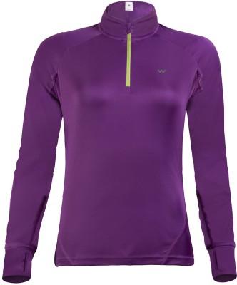 Wildcraft Solid Women's Round Neck Purple T-Shirt