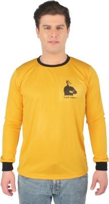 Vivekananda Youth Connect Printed Men's Round Neck Yellow T-Shirt