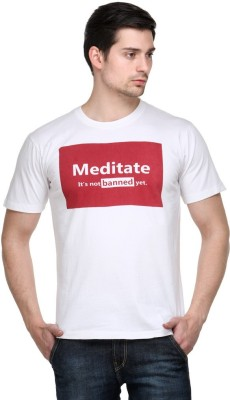 Friends Of Meditation Printed Men's Round Neck T-Shirt