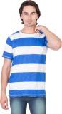 Ganzm Solid Men's Round Neck Blue T-Shir...