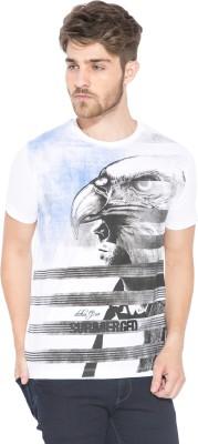 Status Quo Graphic Print Men's Round Neck White T-Shirt