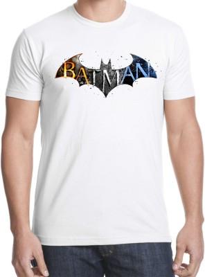 RUKMINI Printed Men's Round Neck White T-Shirt