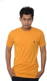 Lampara Solid Men's Round Neck Yellow T-...