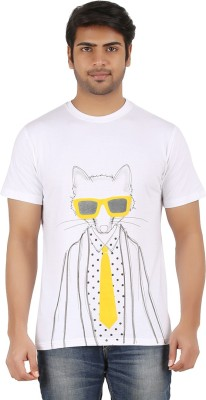 Illegal Monkey Printed Men's Round Neck T-Shirt