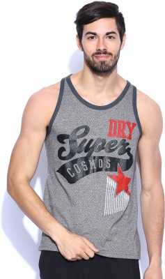 Superdry Printed Men's Round Neck Grey T-Shirt