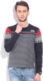 Integriti Striped Men's Round Neck Dark ...