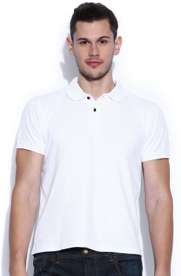HRX Solid Men's Polo Neck T-Shirt