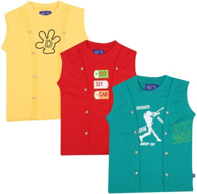 SPN Garments Printed Girl,s Round Neck Yellow, Red, Green T-Shirt