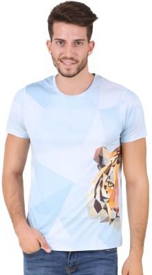 House Of Fett Graphic Print, Self Design Men's Round Neck Multicolor T-Shirt