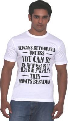 Rat Trap Printed Men's Round Neck White T-Shirt