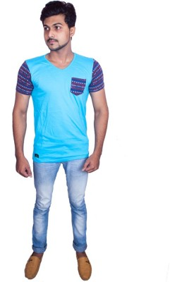 Fashion Passion Solid Men's V-neck T-Shirt