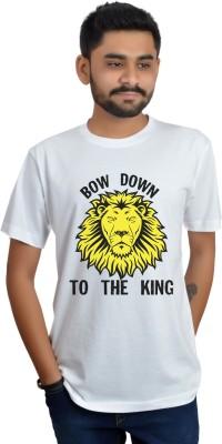 Swag Theory Printed Men's Round Neck White T-Shirt
