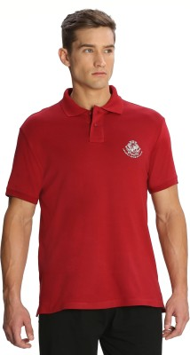 Jockey Solid Men's Polo Red T-Shirt