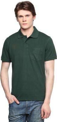 Tempt Solid Men's Polo Neck Green T-Shirt