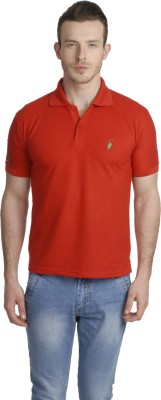 Green Wich United Polo Club Solid Men's Polo Red T-Shirt