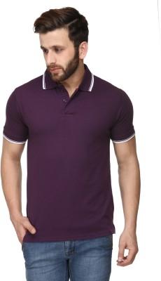 Scott International Solid Men's Polo Purple T-Shirt