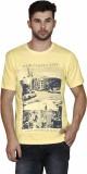 Scottish Printed Men's Round Neck Yellow...