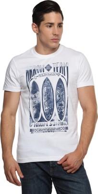 Arrow Sport Printed Men's Round Neck White T-Shirt