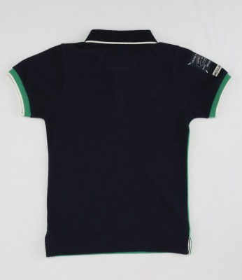 Noddy Solid Boy's Flap Collar Neck T-Shirt